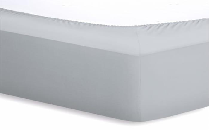 Spannbetttuch BASIC in silber, 180 x 200 x 20 cm