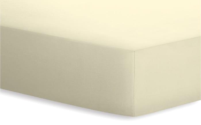 Spannbetttuch Jersey-Elasthan in ecru, 180 x 200 x 25 cm