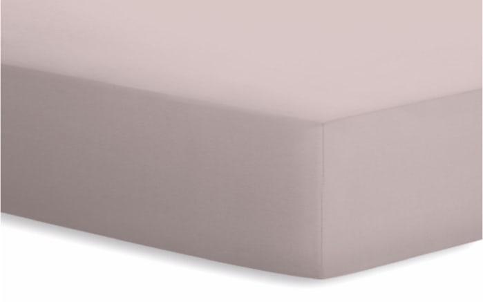 Spannbetttuch Jersey-Elasthan in kiesel, 180 x 200 x 25 cm