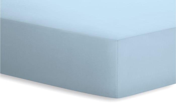 Spannbetttuch Jersey-Elasthan in aqua, 180 x 200 x 25 cm