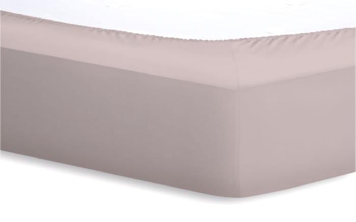 Spannbetttuch Jersey-Elasthan in kiesel, 90 x 190 x 25 cm
