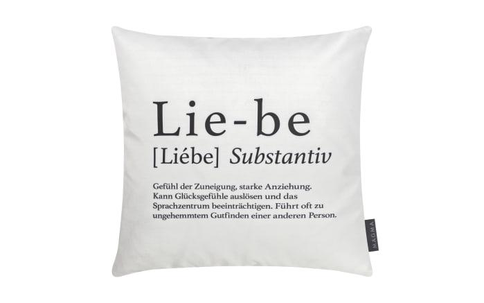 Kissenhülle Wortart Liebe, 40 x 40 cm