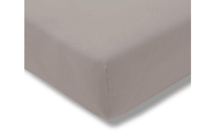 Spannbettlaken Fein Jersey in kiesel, 100 x 200 cm