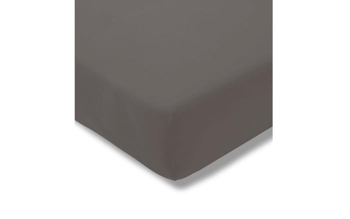 Spannbettlaken Fein Jersey in graphit, 100 x 200 cm