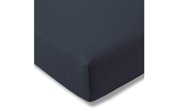 Spannbettlaken Fein Jersey in indigo, 150 x 200 cm