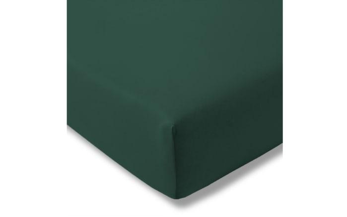 Spannbettlaken Fein Jersey in blautanne, 150 x 200 cm