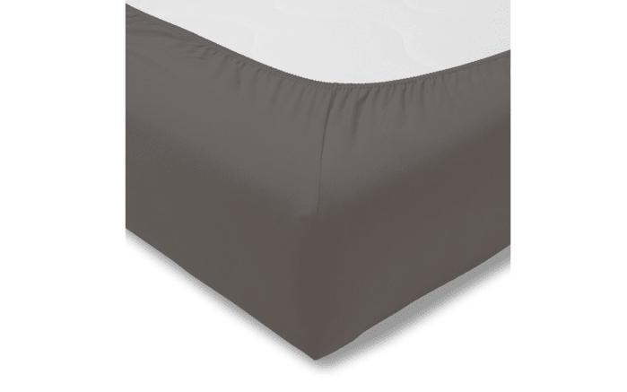 Spannbettlaken Fein Jersey in graphit, 200 x 200 cm