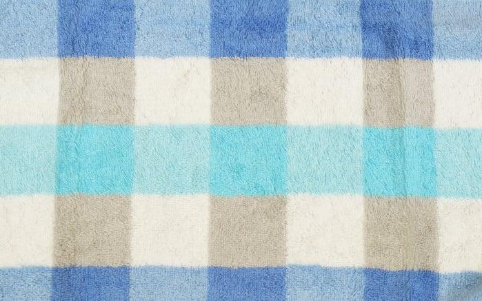 Duschtuch Karo in blau, 70 x 140 cm-04