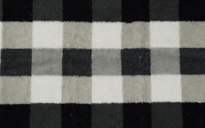 Duschtuch Karo in schwarz/weiss/grau, 70 x 140 cm-04