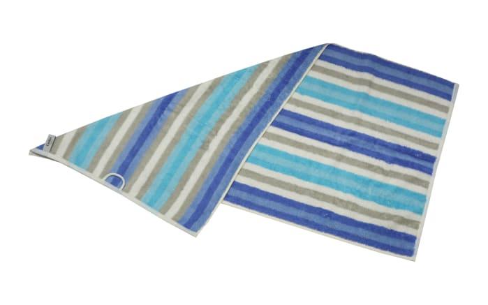 Handtuch Streifen in blau, 50 x 100 cm-03