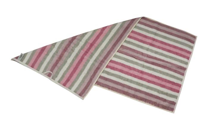 Handtuch Streifen in rose, 50 x 100 cm-04
