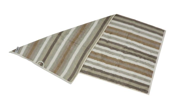 Handtuch Streifen in beige, 50 x 100 cm-03
