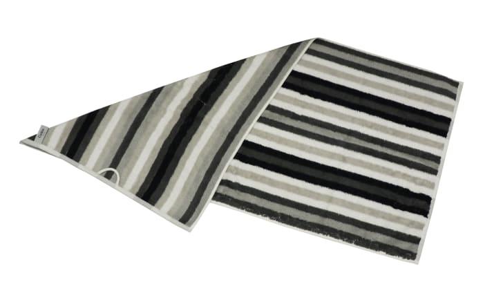 Handtuch Streifen in schwarz/weiss/grau, 50 x 100 cm-03