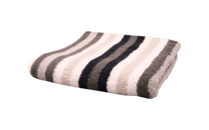 Handtuch Streifen in schwarz/weiss/grau, 50 x 100 cm-01