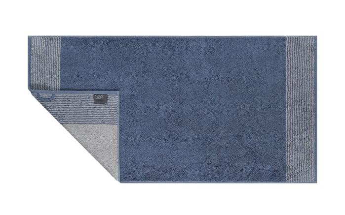 Duschtuch Two-Tone in nachtblau, 80 x 150 cm