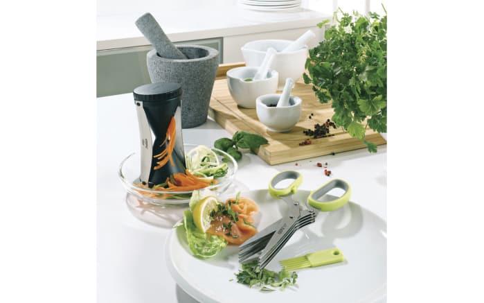 Spiralschneider Spirelli 2.0 mit Gemüsehalter in schwarz