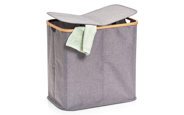 Wäschesammler in grau, 2-Fächer