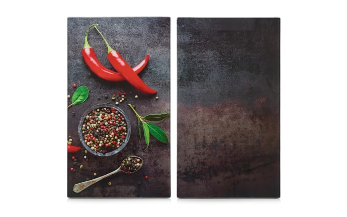 Herdabdeck-/Schneideplatten Chili 2er-Set, 30 x 52 cm
