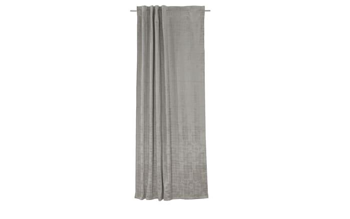 Schlaufenvorhang Frozen in silber, 135 x 245 cm