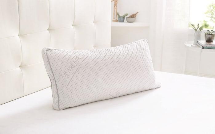Schlafkissen Carat in weiß, 40 x 80 cm