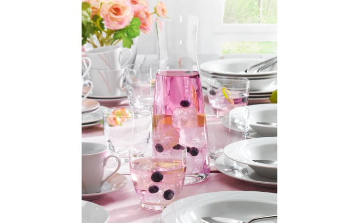 Wasser-/Saft-Set La Bella/Viva in transparent, 7-teilig