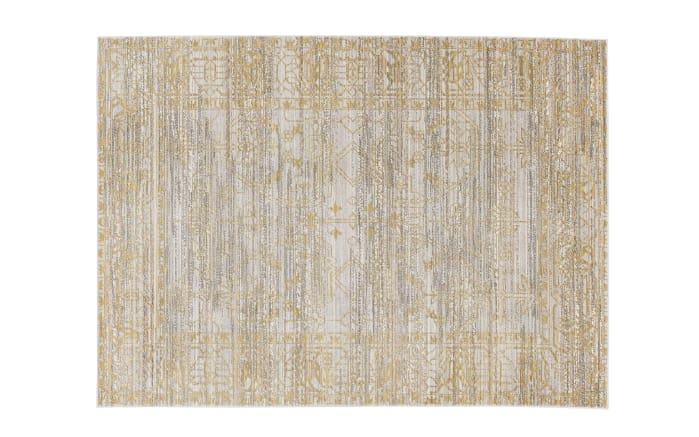 teppich shining in gelb grau 140 x 200 cm online bei hardeck kaufen. Black Bedroom Furniture Sets. Home Design Ideas
