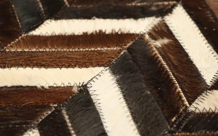 Teppich Patchwork in braun, 140 x 200 cm-03