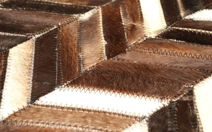 Teppich Patchwork in braun, 140 x 200 cm-02