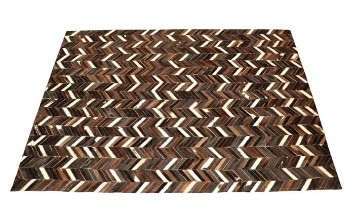 Teppich Patchwork in braun, 140 x 200 cm-01
