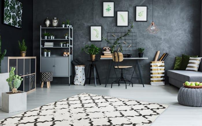 Teppich my Stockholm in anthrazit, 60 x 110 cm