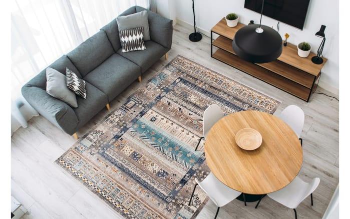 Teppich Anouk 525 in braun/blau, 120 x 170 cm