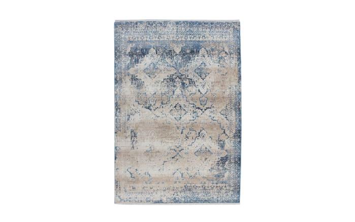 Teppich Antigua 500 in creme/blau, 80 x 150 cm