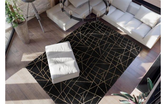 Teppich Bijou 125 in schwarz/gold, ca. 160 x 230 cm-02