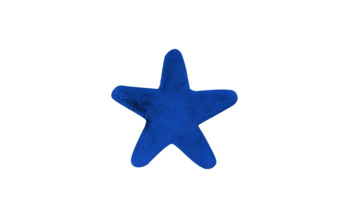 Hochflorteppich Star in blau, 60 x 63 cm-01