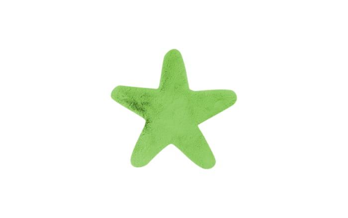 Hochflorteppich Star in grün, 60 x 63 cm-01