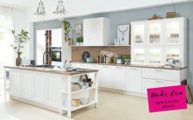 Einbauküche 3630 in Lack weiß, Siemens-Geschirrspüler