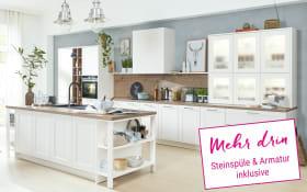 Einbauküche 3630 in Lack weiß, Neff-Geschirrspüler