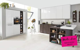 Einbauküche 3250 in weiß, Siemens-Geschirrspüler