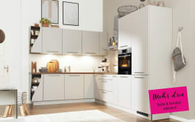 Einbauküche 3410 in Lack sahara softmatt, Siemens-Geschirrspüler