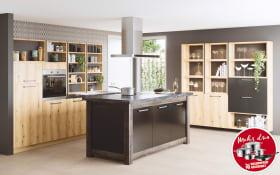 Einbauküche Montana in golden Oak-Optik, Zanker Geschirrspüler KDT10003FB
