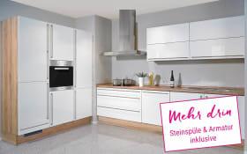 Einbauküche Fresh in weiß, Neff-Geschirrspüler