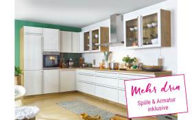 Einbauküche Culineo 2305 Monaco in Esche Perlmutt-Optik