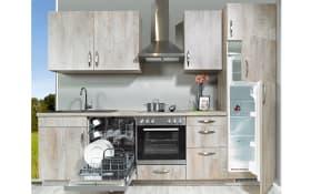 Einbauküche Delta in Cantaro Oak, Zanker-Geschirrspüler KDI10002XB