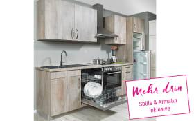 Einbauküche Delta in Cantaro Oak-Optik, Neff Geschirrspüler