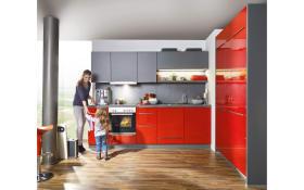 Einbauküche Fresh in rot