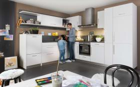 Einbauküche Loft in grau