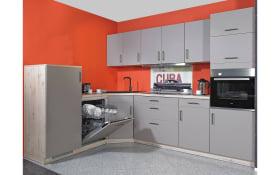 Einbauküche Delta in grau