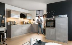 Einbauküche Quadro in grau