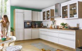 Einbauküche Monaco Esche Perlmutt-Nachbildung