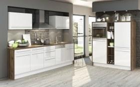 Marken-Einbauküche in weiß